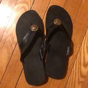 Yellow Box flip flops size 9
